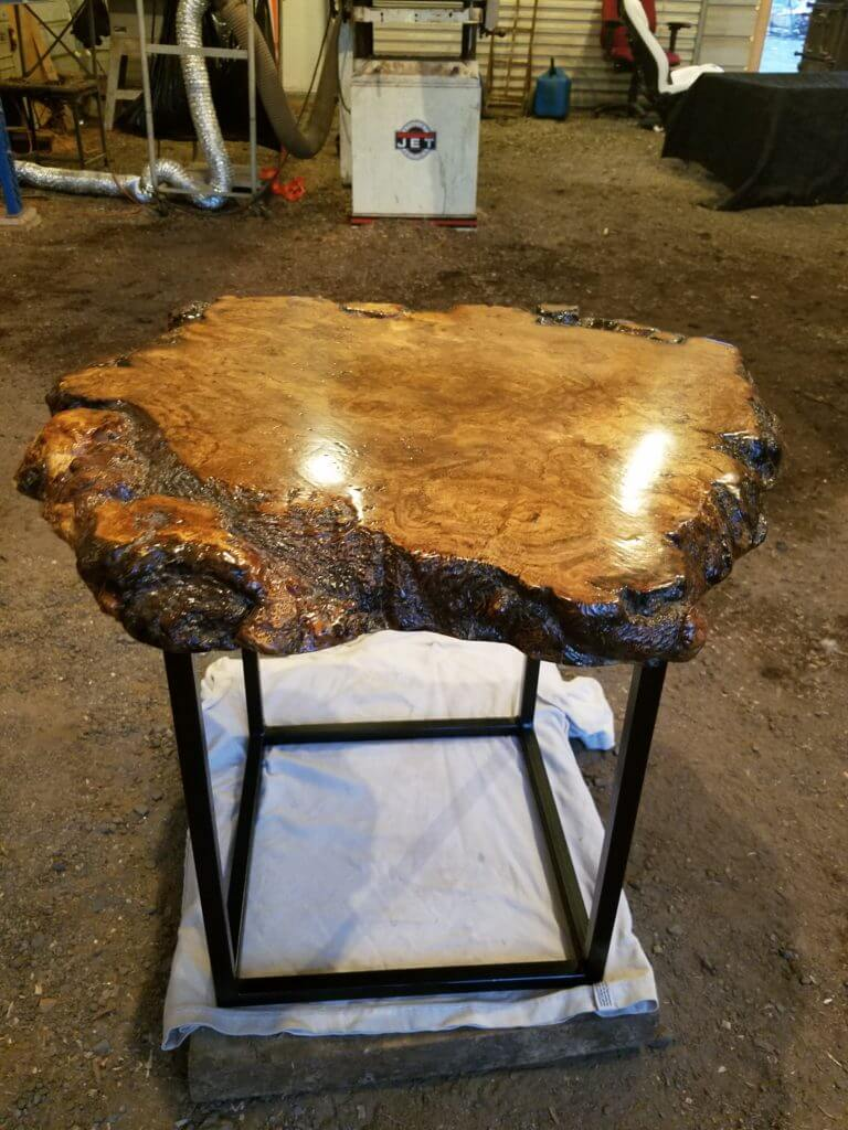 oak burl slab