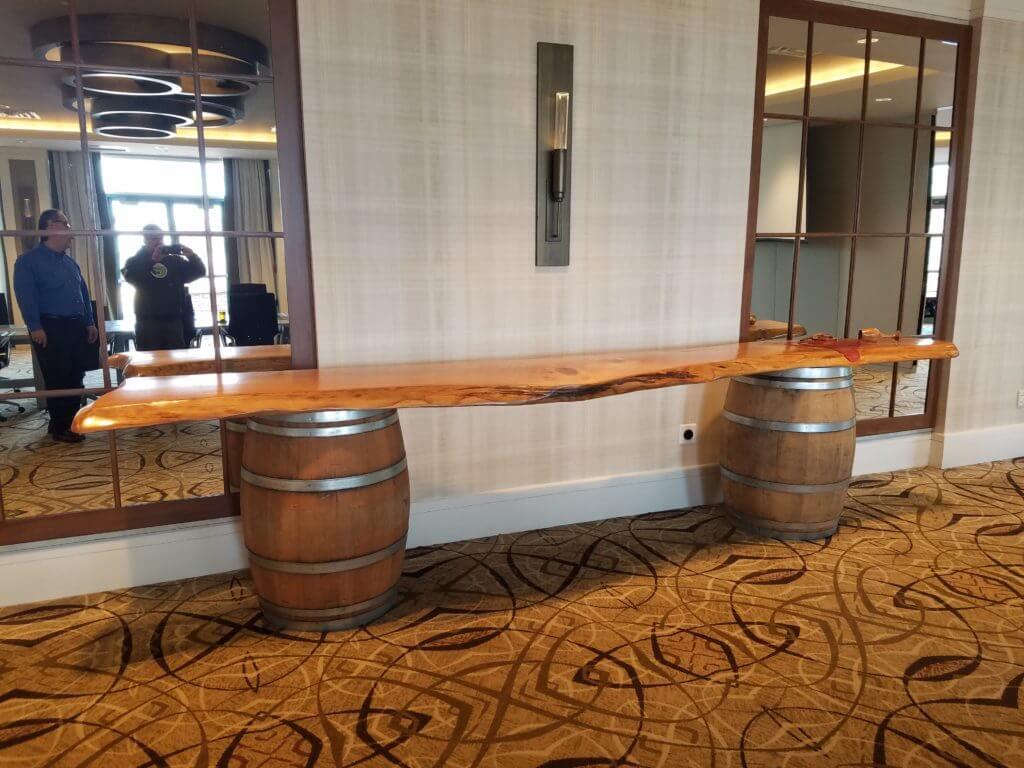 landsdowne resort reclaimed wood bar top