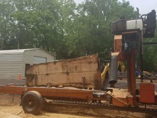 woodmizer lt70 sawmill in action