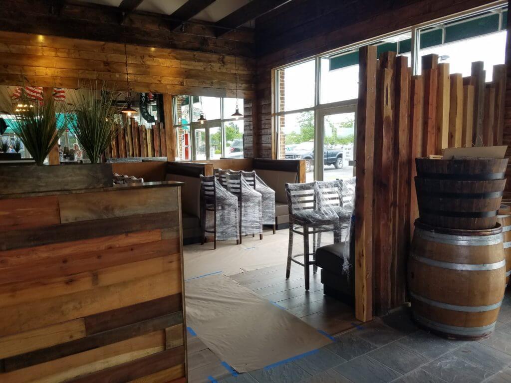 Reclaimed wood walls