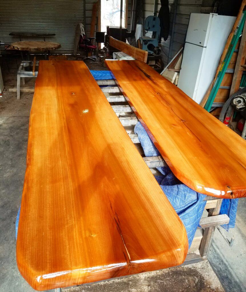 Cherry live edge bar tops
